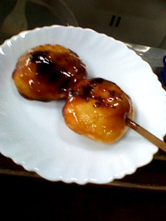 飯能新島田屋の焼きだんご